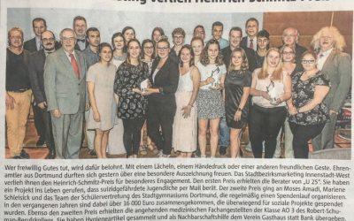 Stadtgymnasiasten sind Preisträger des Heinrich Schmitz Preises