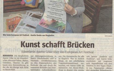 Pressebericht zum European Arts Festivals