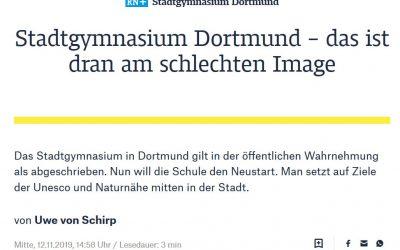 Großer Pressebericht der Ruhrnachrichten zur Neuausrichtung des Stadtgymnasiums