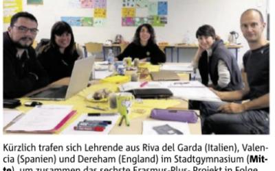 Neues Erasmus+ – Projekt am Stadtgymnasium