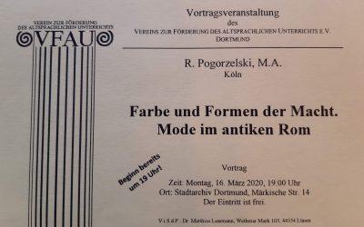 Einladung zur Vortragsveranstaltung des VFAU