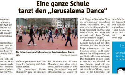 Ruhrnachrichten berichten über StG-Jerusalema-Dance