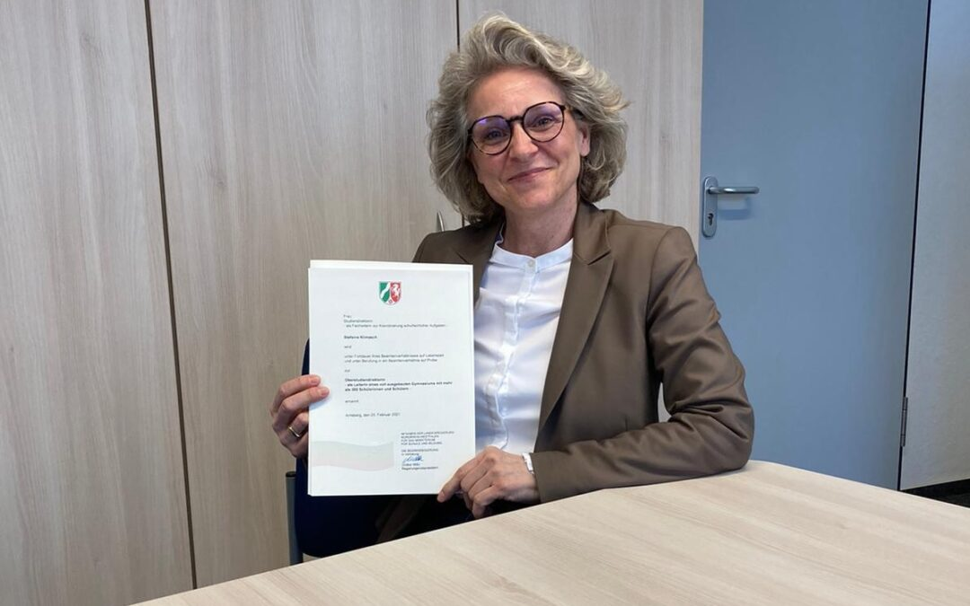 Ruhrnachrichten berichten über neue Schulleiterin am Stadtgymnasium