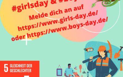 Girls and Boys Day – Fristverlängerung zur Anmeldung bis zum 12.04.2021!